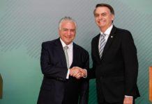 Jair Bolsonaro e Michel Temer. Foto: Alan Santos/PR