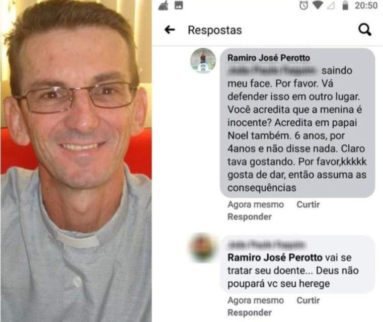 Padre gerou polêmica após comentários sobre aborto de menina de 10 anos. Foto: Facebook/Reprodução