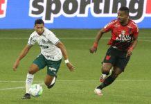 Palmeiras empata com o Athletico-PR. Foto: Cesar Greco/Agência Palmeiras