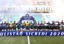 Palmeiras na final do Paulistão. Foto: Cesar Greco/Agência Palmeiras