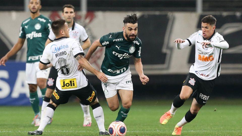 Palmeiras e Corinthians jogam nesta quarta-feira (5). Foto: Cesar Greco/Agência Palmeiras