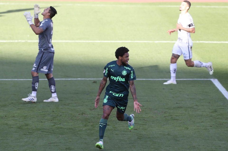 Palmeiras vence o Santos pelo Brasileirão. Foto: Cesar Greco/Agência Palmeiras