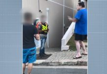 Entregador sofre ofensas racistas em Valinhos (SP). Foto: Reprodução/EPTV