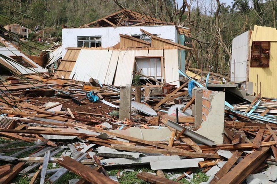 Casa totalmente destruída em Água Doce. Foto: Flávio Júnior/Defesa Civil