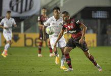 Flamengo vence o Santos pelo Brasileirão. Foto: Alexandre Vidal/Flamengo