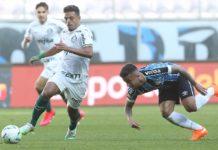 Palmeiras empata com o Grêmio. Foto: Cesar Greco/Agência Palmeiras