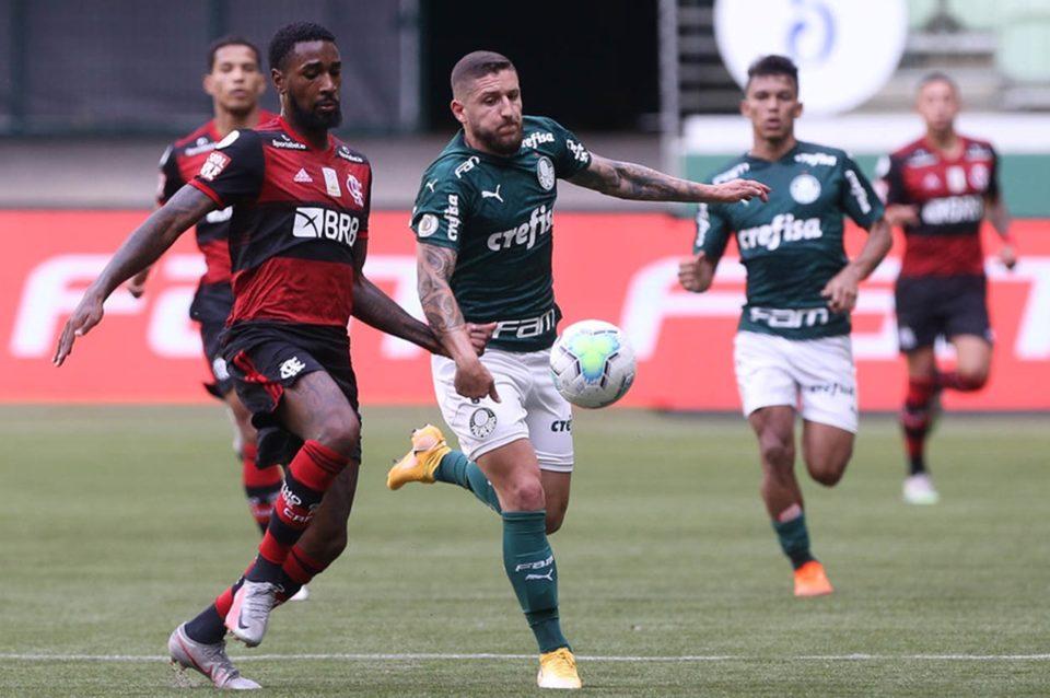Palmeiras e Flamengo se enfrentaram pelo Brasileirão. Foto: Cesar Greco/Agência Palmeiras