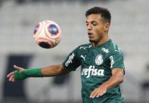 Gabriel Menino fez gol para o Palmeiras. Foto: Cesar Greco/Agência Palmeiras