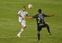 Santos e Olímpia pela Libertadores. Foto: SantosFC/Twitter/Reprodução
