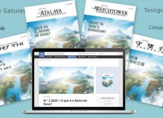 """Edições impressas e eletrônicas da revista A Sentinela com o tema """"O que é o Reino de Deus?"""". Foto: Cortesia das Testemunhas de Jeová"""