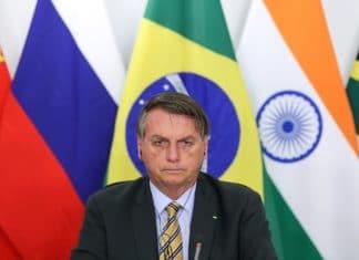 Jair Bolsonaro durante reunião da XII Cúpula de Líderes do BRICS. Foto: Marcos Corrêa/PR