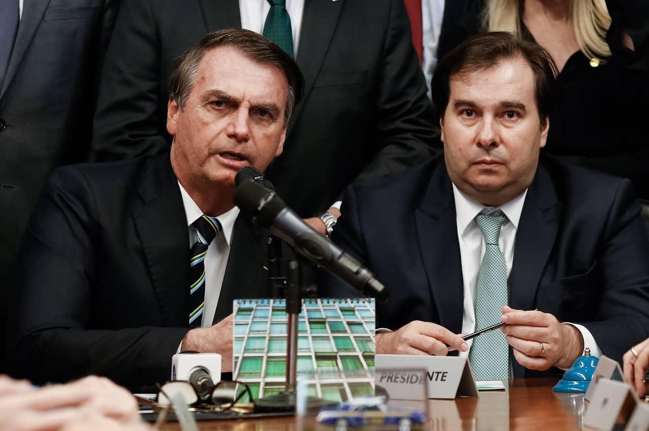 Bolsonaro e Rodrigo Maia. Foto: Carolina Antunes/PR