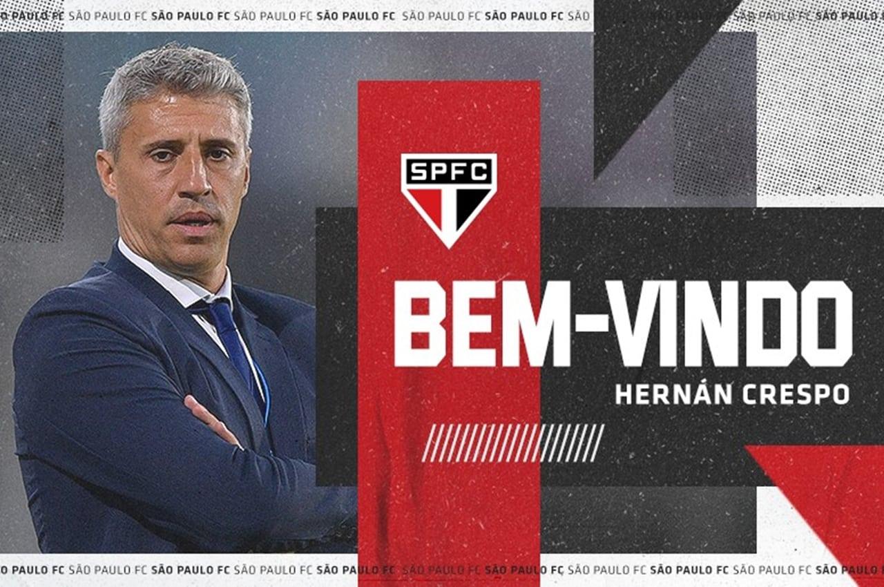 Hernán Crespo assinou contrato válido por dois anos. Foto: Divulgação