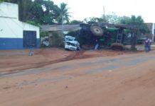 Máquina agrícola causa acidente em Glória de Dourados (MS). Foto: Reprodução
