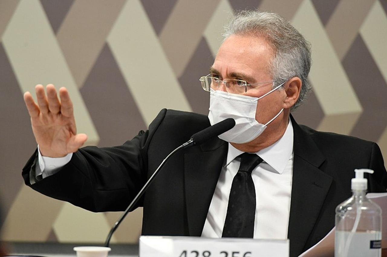 O relator da CPI, Renan Calheiros. Foto: Jefferson Rudy/Agência Senado