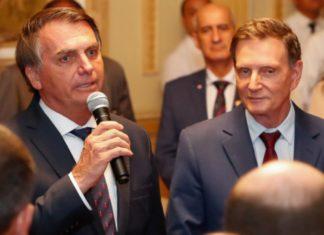 O presidente Jair Bolsonaro e Marcelo Crivella. Foto: Alan Santos/Presidência da República