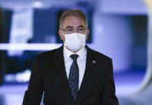 Ministro de Estado da Saúde, Marcelo Queiroga, chega ao Senado. Foto: Edilson Rodrigues/Agência Senado