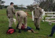 Vítima estava caída nas margens da rodovia. Foto: Reprodução