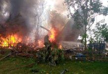 O acidente ocorreu no momento em que a aeronave Lockheed C-130 tentava pousar na Ilha de Joló. Foto: Reprodução/Twitter Hananya Naftali