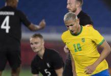Brasil vence a Alemanha pela primeira rodada dos Jogos Olímpicos. Foto: Lucas Figueiredo/CBF