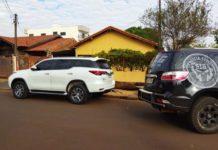 Veículo foi encontrado abandonado. Foto: Osvaldo Duarte/Dourados News/Reprodução