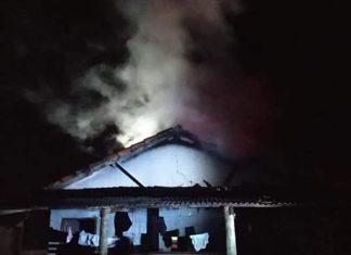 Incêndio atinge residência no BNH em Glória de Dourados (MS). Foto: Regiãonline/Reprodução
