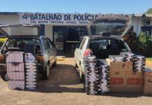 Contrabando apreendido. Foto: Divulgação