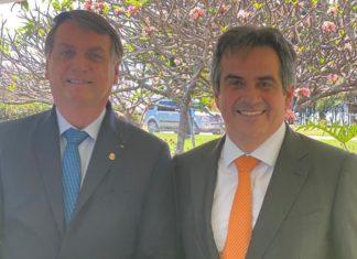 Jair Bolsonaro ao lado de Ciro Nogueira. Foto: Reprodução