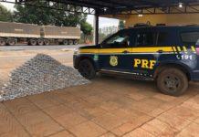 PRF apreende 348,4 kg de cocaína em Paranaíba (MS). Foto: Divulgação