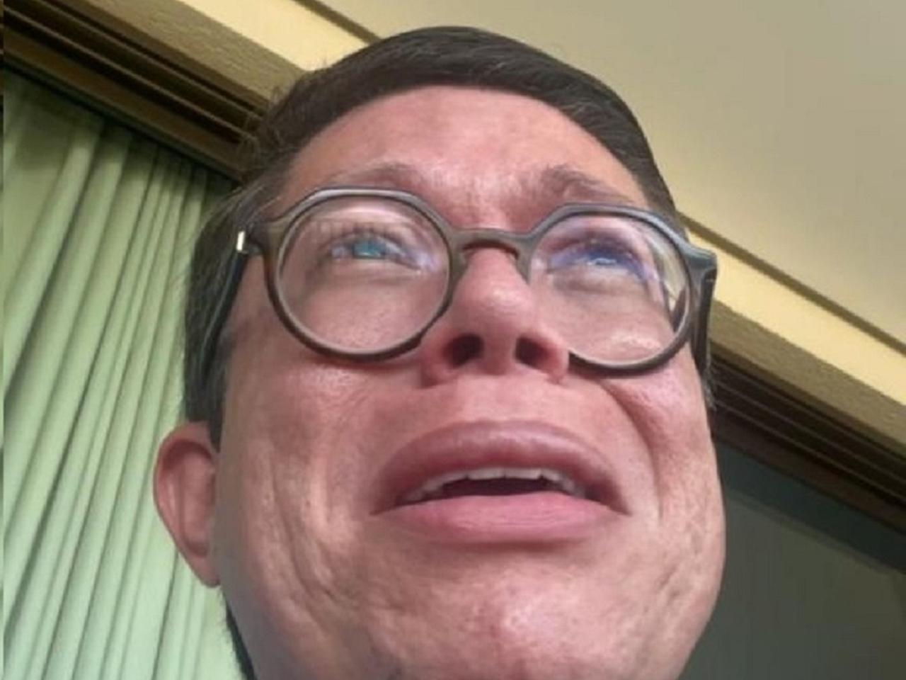 Dj Ivis chora em vídeo. Foto: Reprodução
