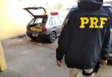 PRF apreende 128 kg de maconha em Bataguassu (MS). Foto: Divulgação