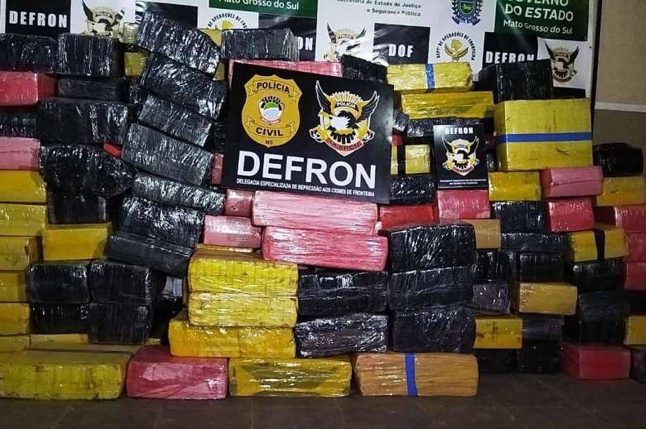 Entreposto fechado no Jardim Itália guardava mais de 3,3t de maconha. Foto: Dourados News/Reprodução