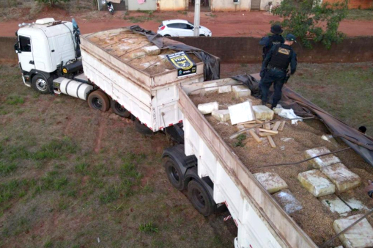 Droga foi apreendida em Deodápolis (MS). Foto: Divulgação
