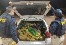 PRF apreende 530 kg de maconha em Ponta Porã (MS). Foto: Divulgação