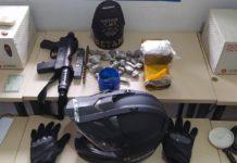 PM apreende submetralhadora, drogas e prende quatro pessoas por associação criminosa em Dourados. Foto: Divulgação