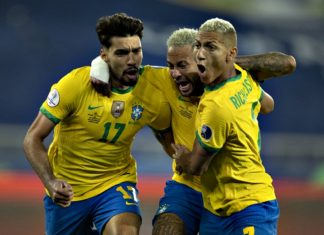 Brasil x Peru pela segunda rodada da Copa América. Foto: Lucas Figueiredo/CBF