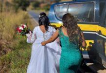 PRF socorre noiva que quase perdeu o próprio casamento. Foto: Divulgação