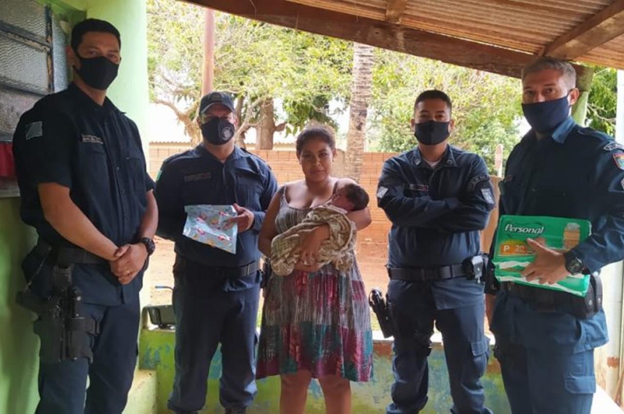 Em Dois Irmão do Buriti, Polícia Militar salva bebe de apenas 18 dias. Foto: Divulgação