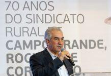 """Governador debateu a """"força do agro"""" em solenidade do Sindicato Rural de Campo Grande. Foto: Chico Ribeiro/Divulgação"""