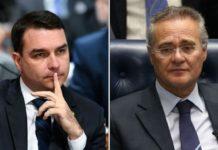 Flávio Bolsonaro pode estar envolvido no escândalo Covaxin, revela Renan Calheiros. Foto: Reprodução