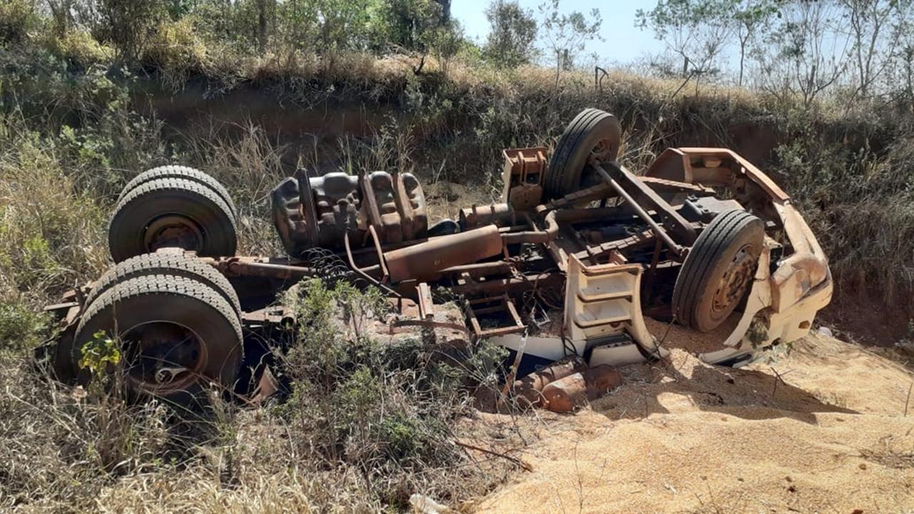 Acidente deixa motorista morto em Caarapó (MS). Foto: Ligado na Notícia/Reprodução