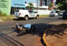 Motociclista morreu na hora. Foto: Osvaldo Duarte/Dourados News/Reprodução
