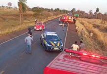 Acidente aconteceu entre Dourados e Fátima do Sul. Foto: Reprodução