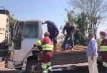 Acidente entre Dourados e Douradina. Foto: Dourados News/Reprodução