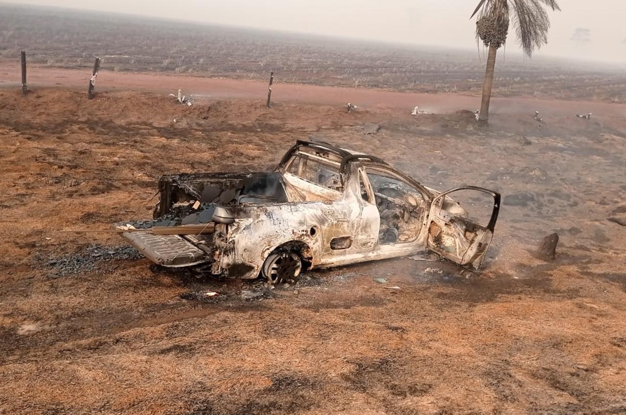 Motorista e passageiro morreram queimados em Ipezal. Foto: Reprodução