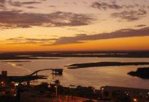 Local onde ocorreu o acidente fica a 15 quilômetros do porto de Corumbá. Foto: Reprodução