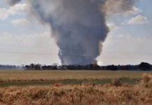 Incêndio entre Dourados e Ponta Porã. Foto: Reprodução