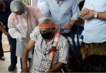 """Com 80% de taxa de vacinação, MS atinge """"imunidade coletiva"""" da população indígena. Foto:Danilo Pagnussati/Divulgação"""
