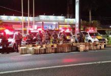 Droga seria enviada para o Morro de São Carlos, no Rio de Janeiro. Foto: Polícia Militar Rodoviária/Reprodução