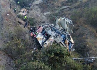 Acidente no Peru deixa pelo menos 33 mortos e 20 feridos. Foto: Ministério do Interior/Reprodução